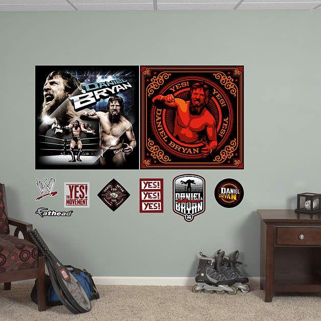 Daniel Bryan Duo Murals Fathead Wall Decal NBA and NFL and WWE