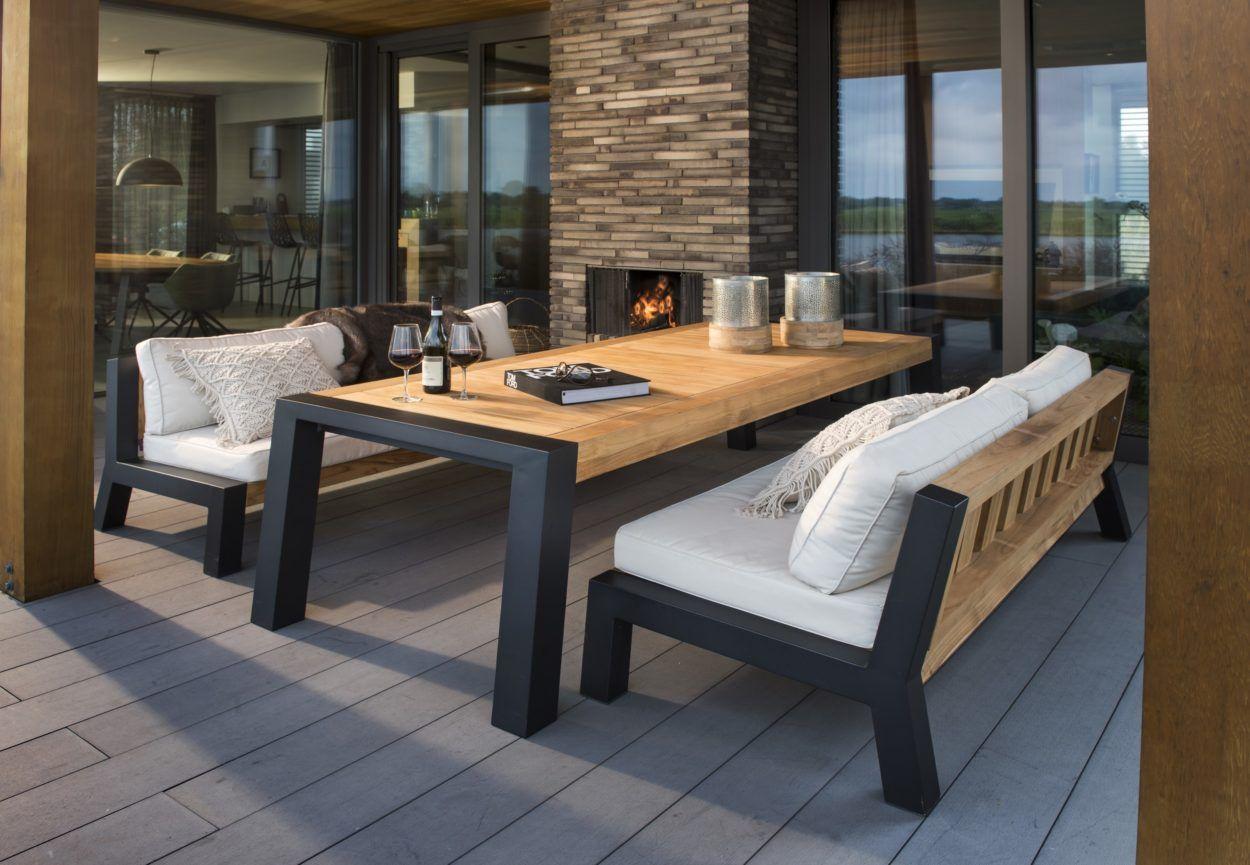 Beach 7 Tuinmeubelen.Prachtige Beach 7 Lounge Diningset Bellevue Aluminium Teak Deze