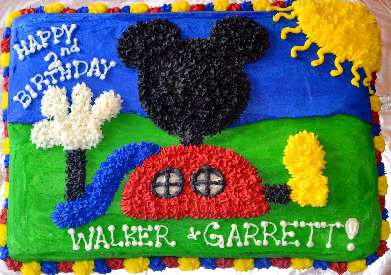 Sensational Mickey Mouse Club House Cakes Mickey Mouse Clubhouse Birthday Funny Birthday Cards Online Elaedamsfinfo