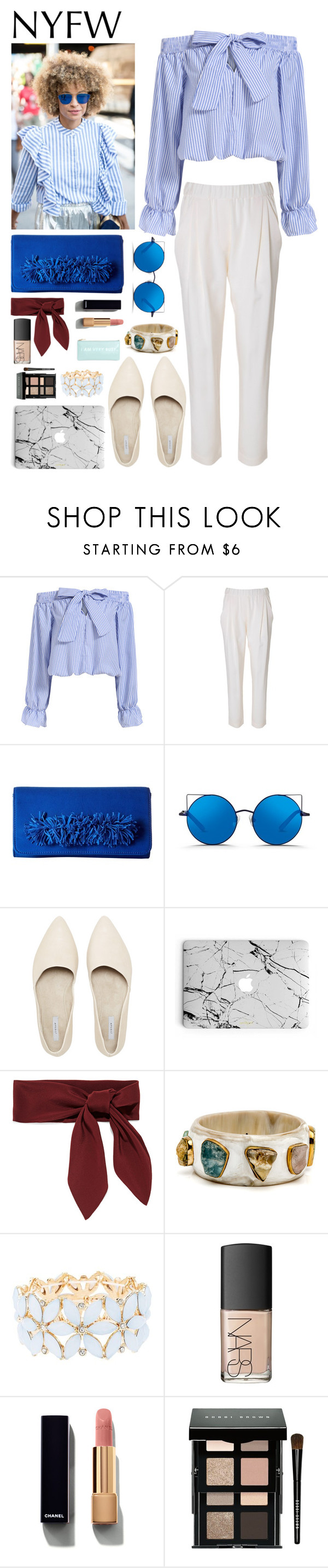 """Untitled #366"" by savkcollins ❤ liked on Polyvore featuring 3.1 Phillip Lim, Steve Madden, Matthew Williamson, Chloé, Charlotte Russe, NARS Cosmetics, Chanel, Bobbi Brown Cosmetics and ban.do"