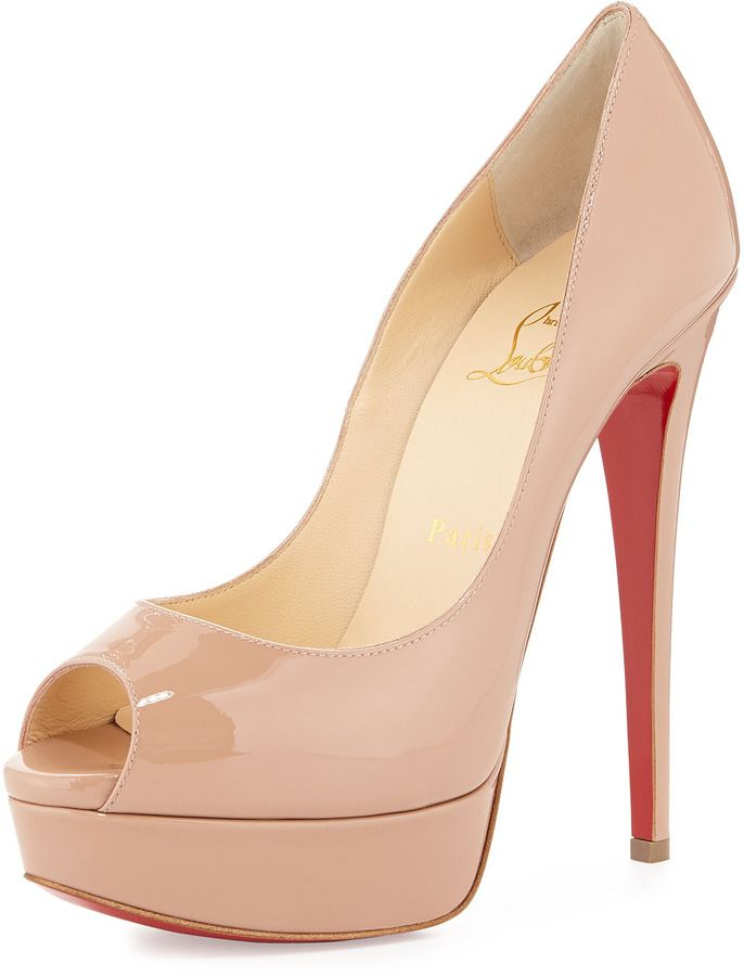 499a2542cac3 Christian Louboutin Lady Peep Patent Red Sole Pump