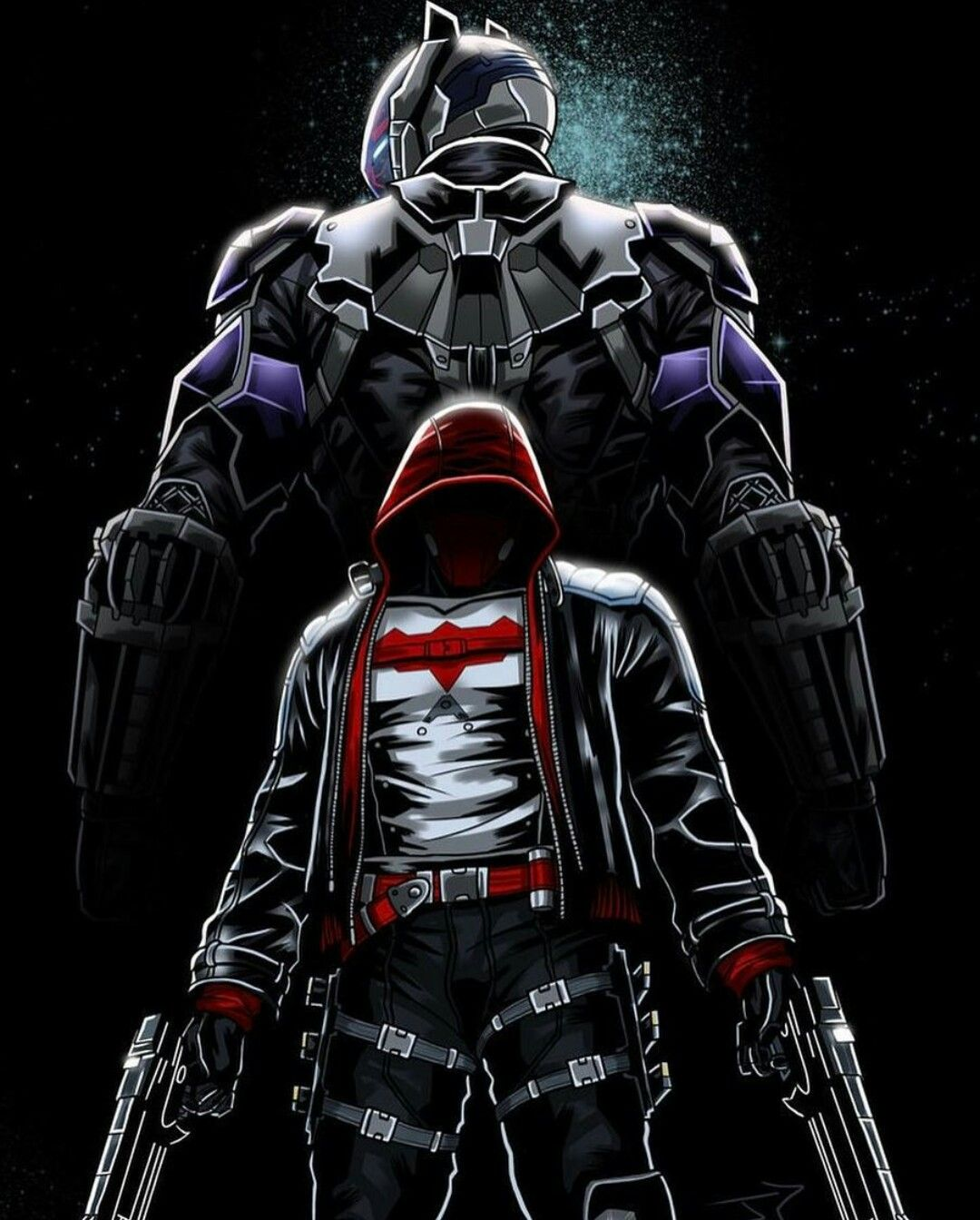 The Arkham Knight & Red Hood