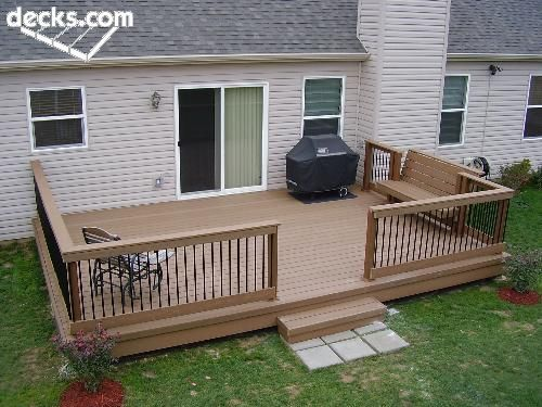 Low elevation deck picture gallery home sweet home for Low elevation deck plans