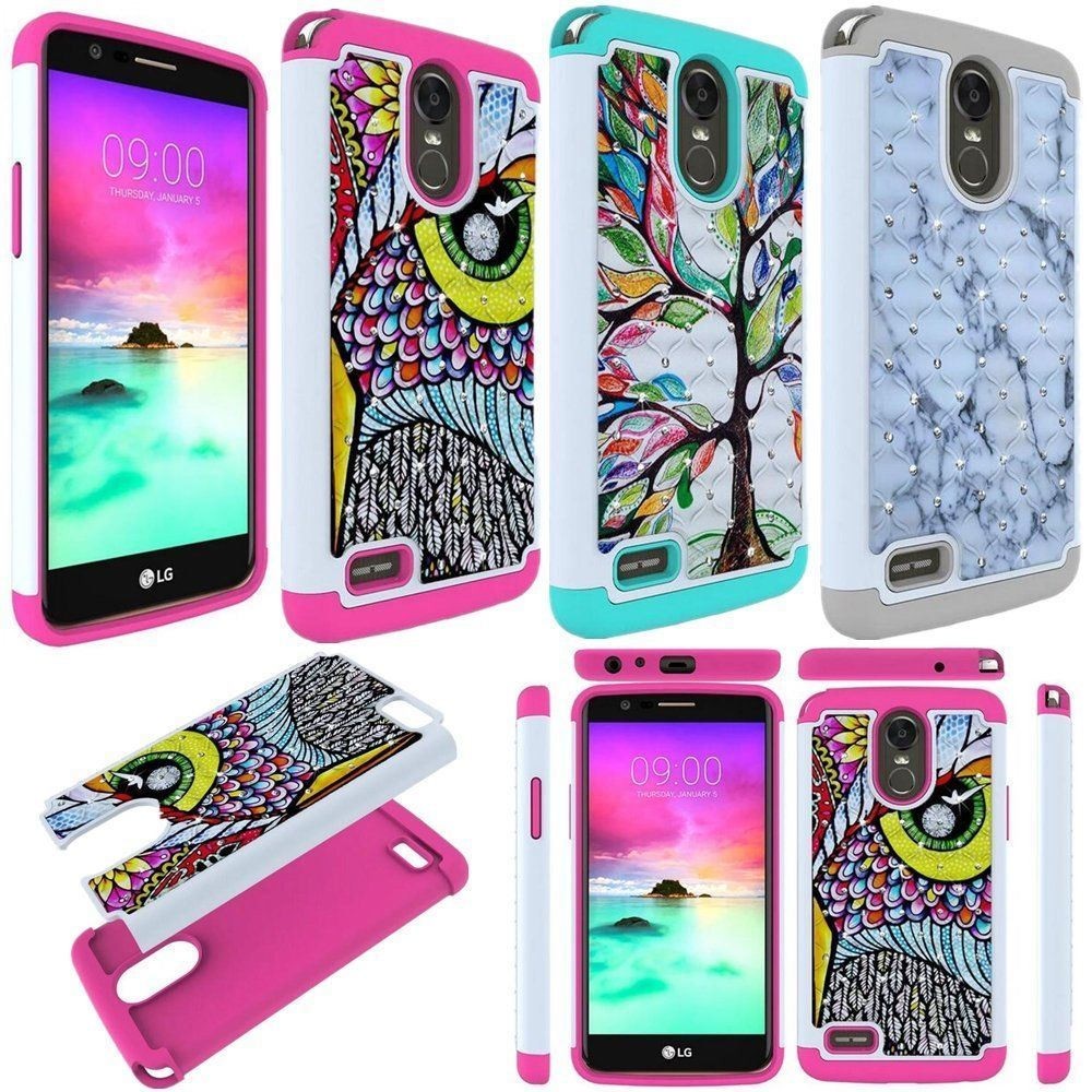 huge discount 7d1dd 01a0a Hybrid Slim Bling Diamond Protective Phone Case Cover For Lg G Stylo ...
