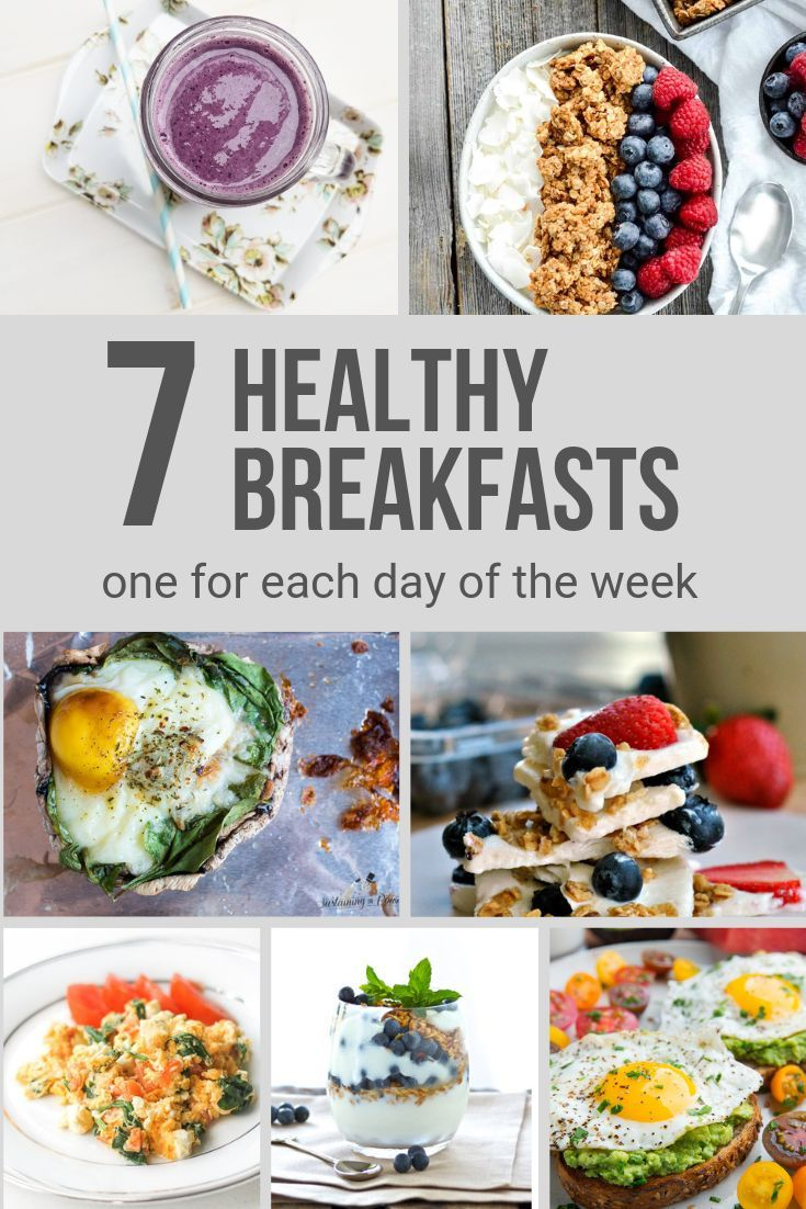 7 Easy Healthy Clean Eating Breakfasts for every day of the week images