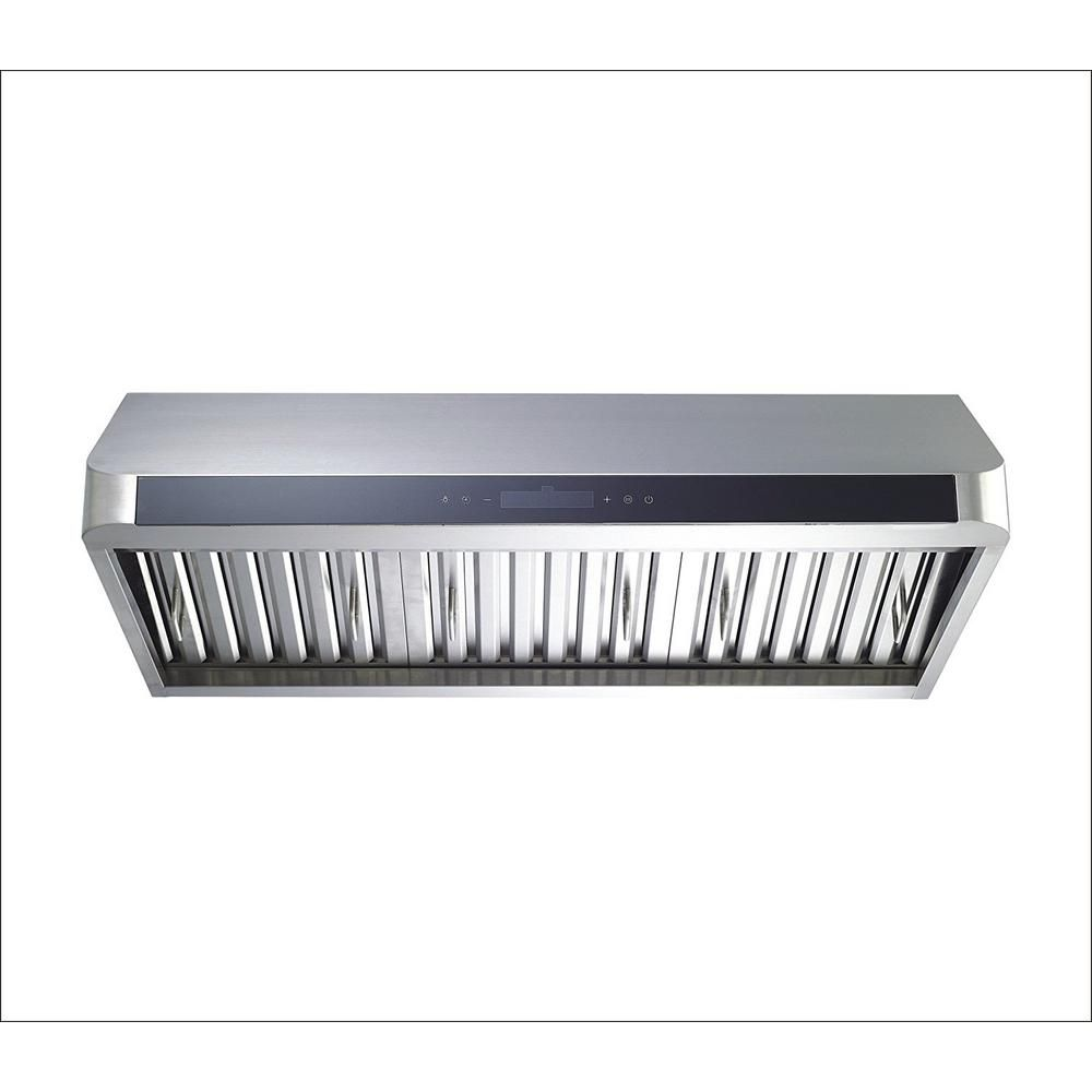 Winflo 30 In Convertible 600 Cfm Under Cabinet Range Hood In Stainless Steel With Baffle Filters And Touch Control Ur012b30l The Home Depot Range Hood Under Cabinet Range Hoods Stainless Steel Types