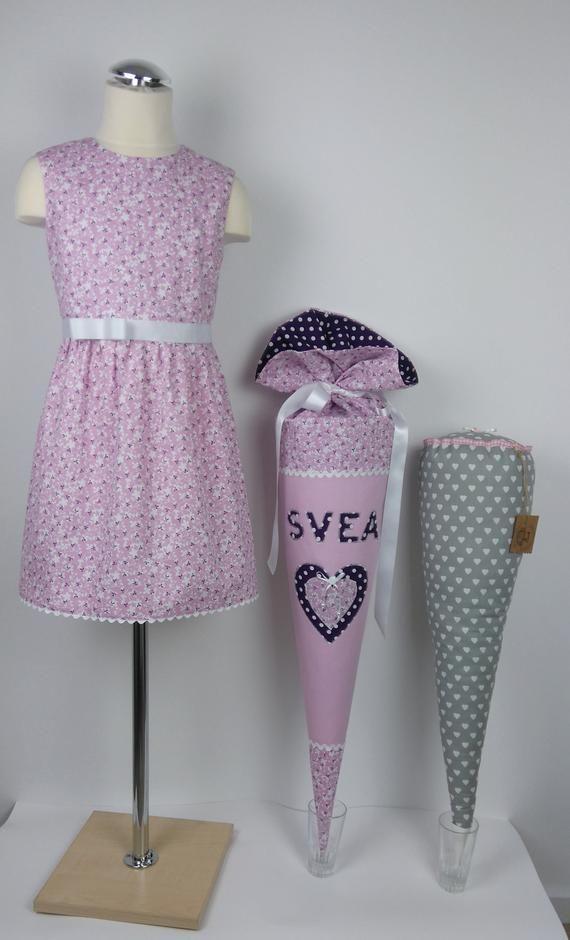 Schultüte & Schulkleid,handgefertigt,Kissenrohling,kleid ...