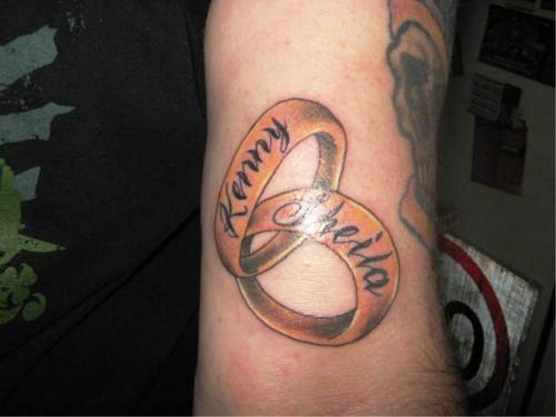 Christian Wedding Ring Tattoos: Christian Wedding Ring Tattoo Designs
