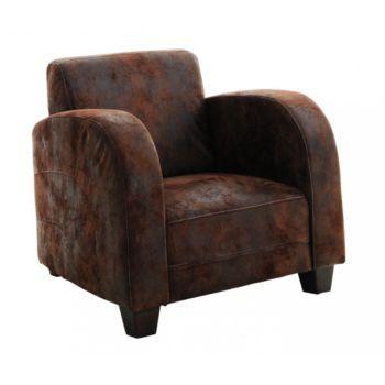 Royaume-Uni disponibilité 1d7ff c613a Fly - fauteuil microfibre marron vieilli - 259€ | Shopping ...