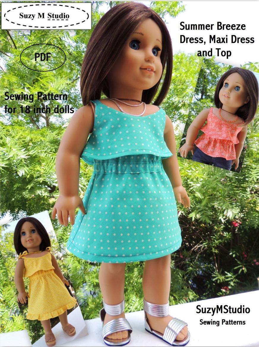 Summer Breeze Dress Pattern | AG Summer Breeze top | Pinterest ...