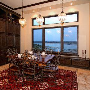 Lake Travis Waterfront Mediterranean Breakfast Dining By Zbranek Holt  Custom Homes Lake Travis Luxury Custom Home