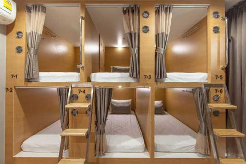 Best Hostels In Bangkok Thailand Dormitory Room Bunk