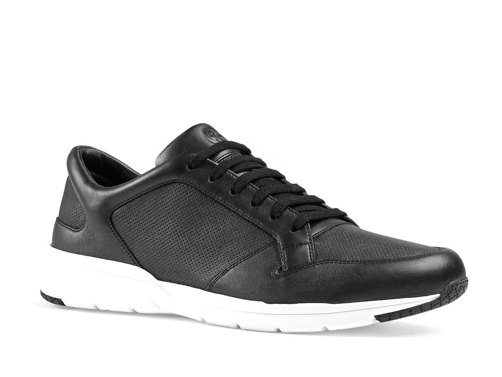 22401d8d0cc Gucci men s black Leather sneakers shoes - Italian Boutique €322 ...