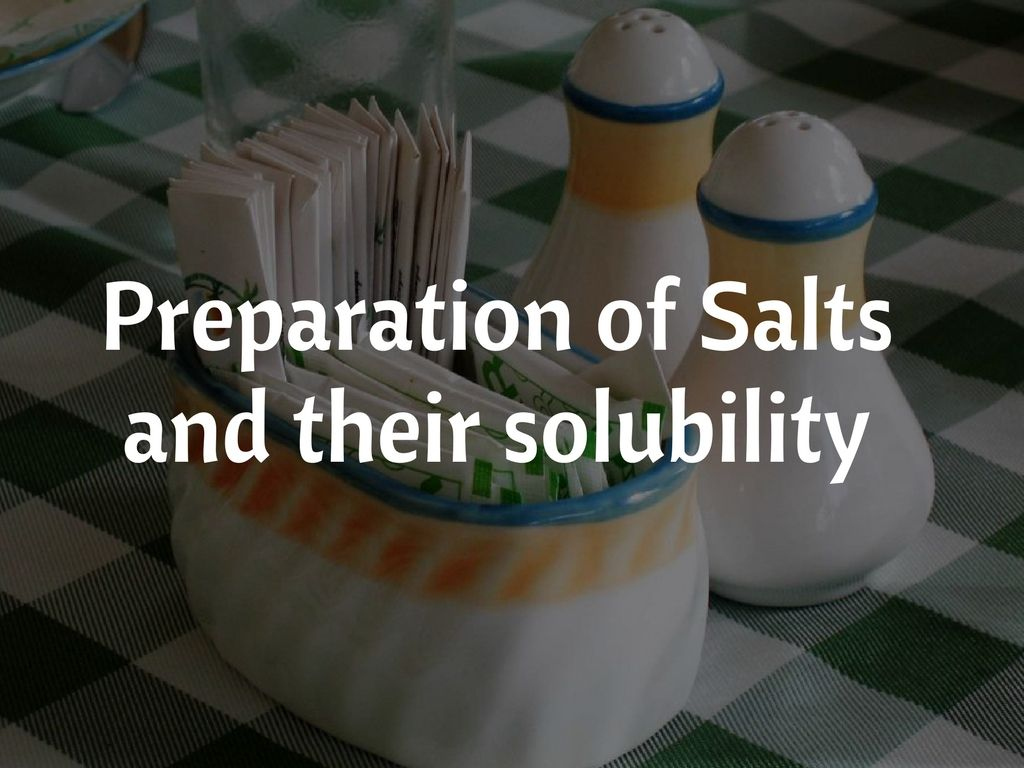 Learn More About How To Prepare Soluble And Insoluble