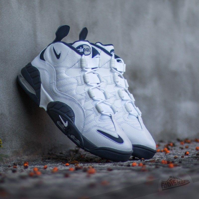 Nike Air Max Sensation White/Midnight Navy-White-Metallic Silver. KicksNike  Air MaxTrainersMen FashionMetallicSneakersNavySilverShoes