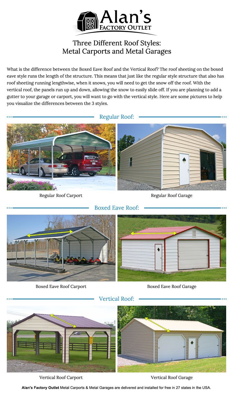 Carports can be turned into fully enclosed steel buildings