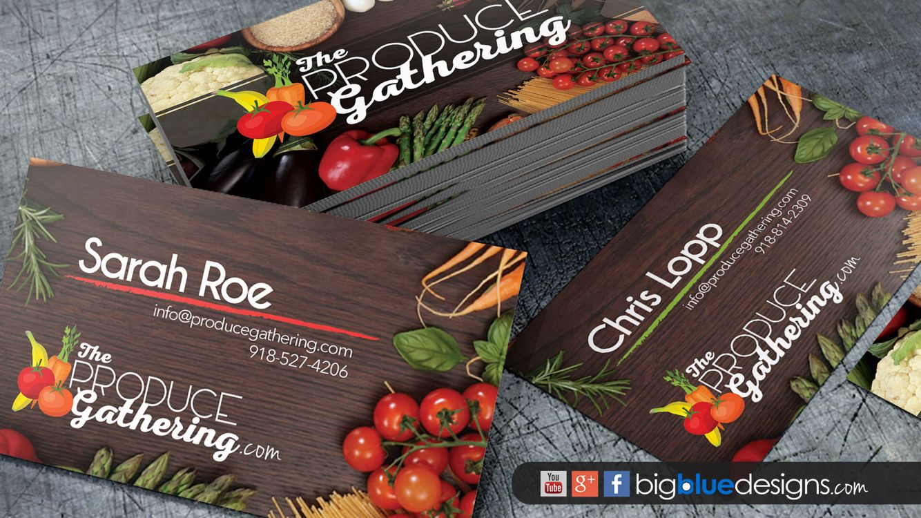 Business Card Designs For The Produce Gathering Business Card Design Card Design Business Cards