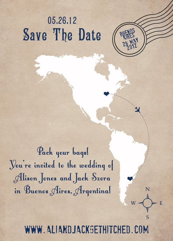 Save The Date Destination Wedding