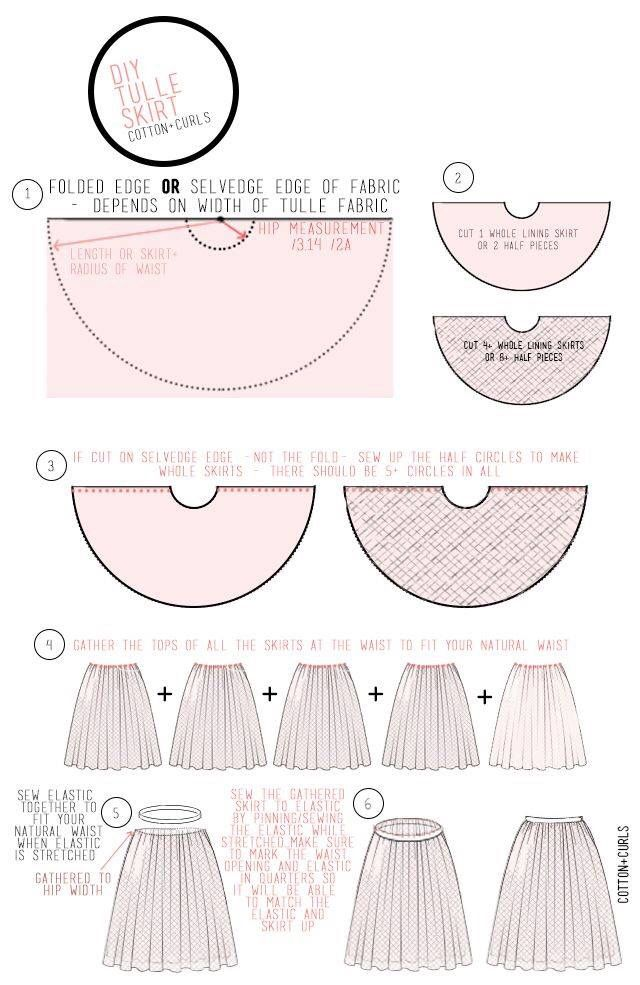 Gathered skirt with tulle lining