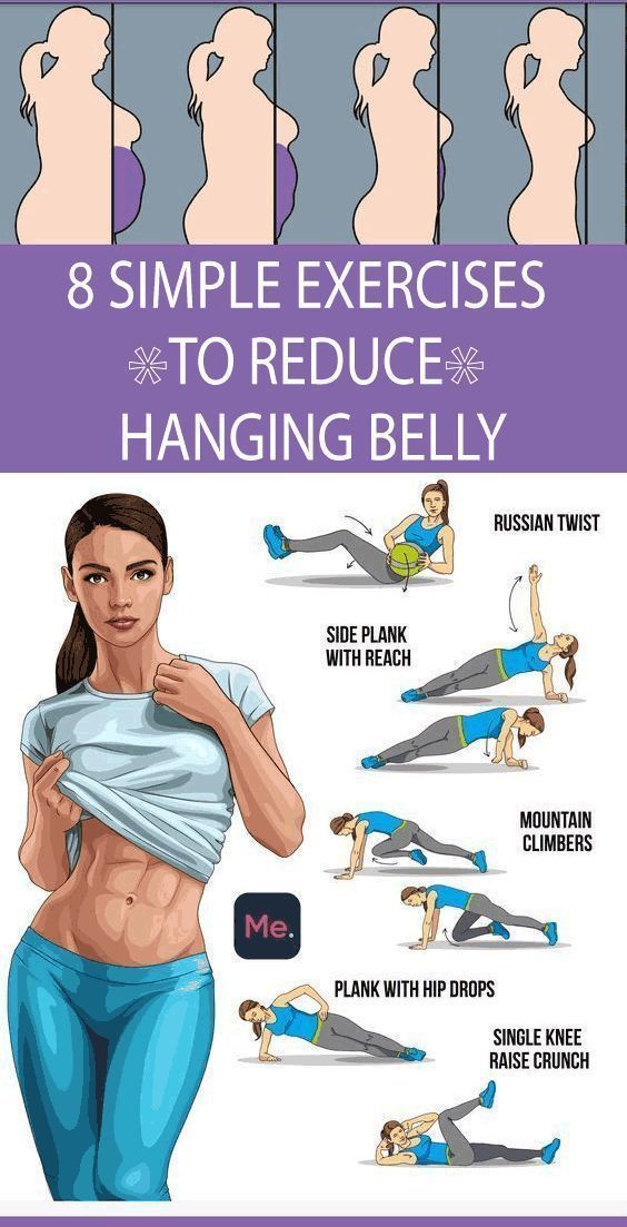 8 Best Exercises To Reduce Hanging Belly Fat Exercicios De