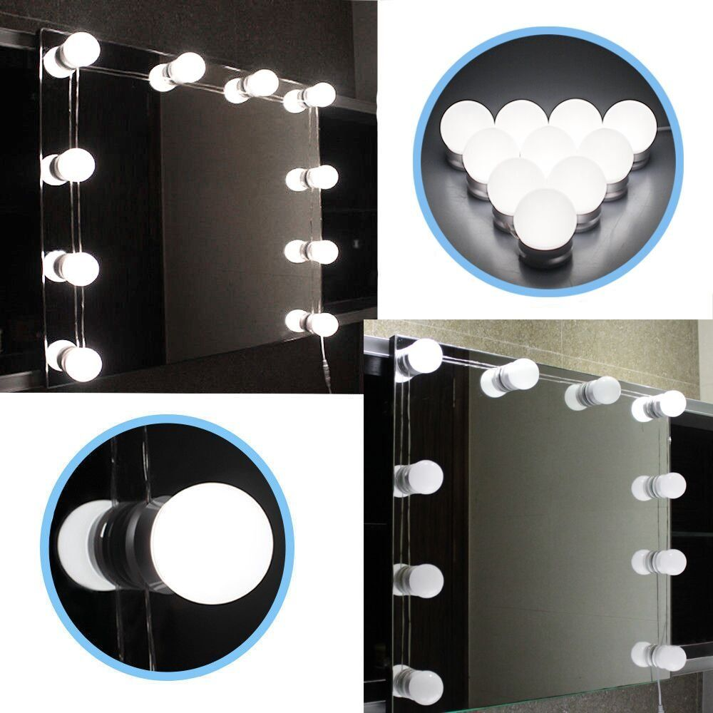 Chende hollywood style led vanity mirror lights kit with dimmable chende hollywood style led vanity mirror lights kit with dimmable light bulbs lighting fixture strip arubaitofo Image collections