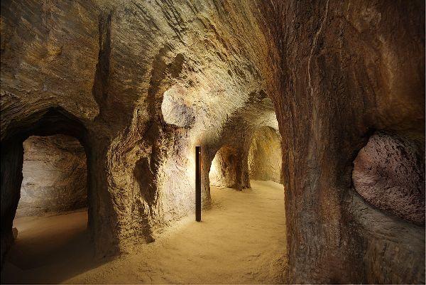 Interior de las minas de Gavá (Barcelona)