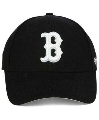 47 Brand Boston Red Sox Mvp Cap Black Adjustable Boston Red Sox Mens Caps Sports Fan Shop