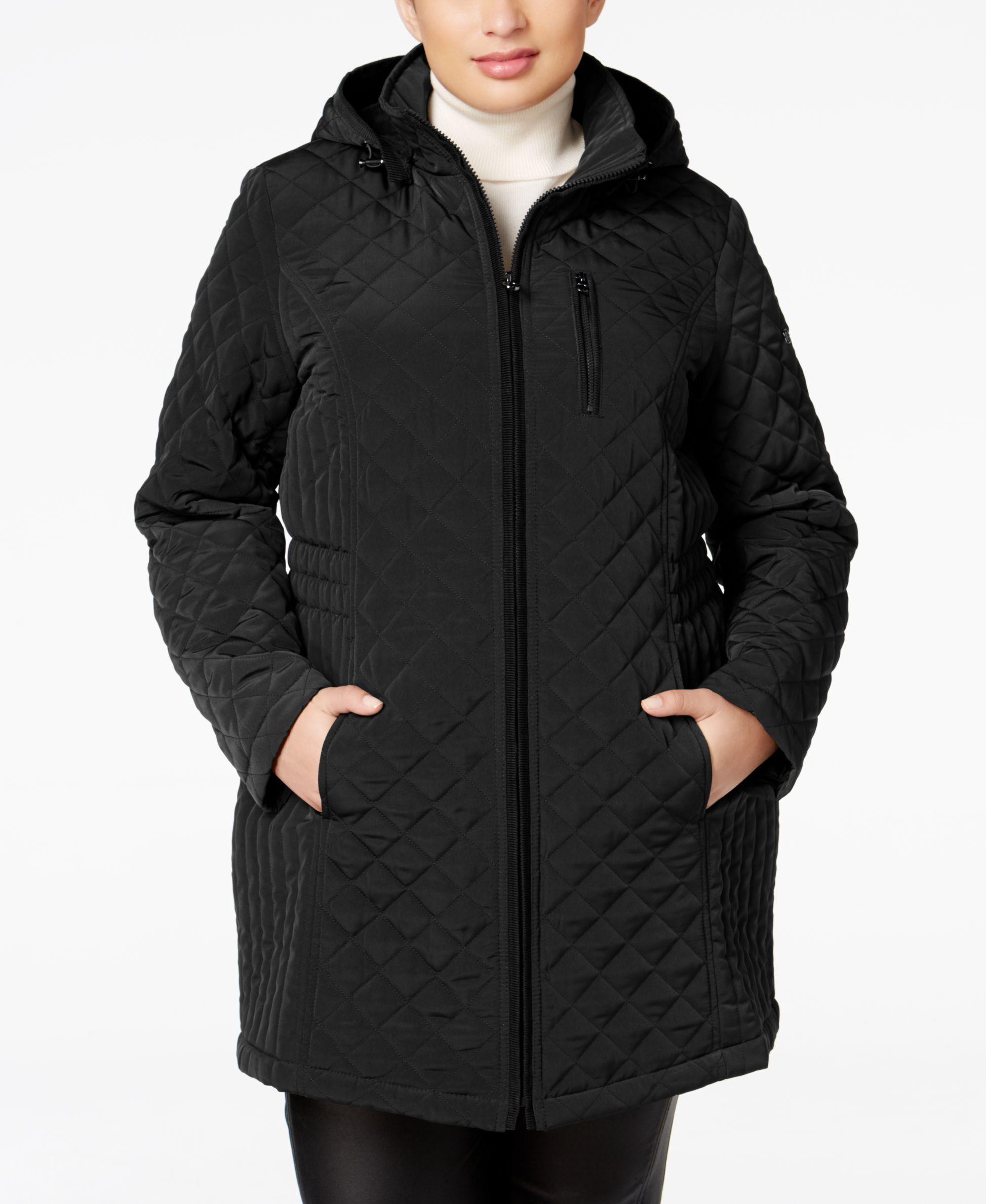 Laundry By Design Plus Size Hooded Quilted Jacket Quilted Jacket Jackets Coats For Women
