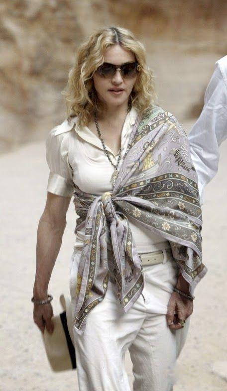bfbd2858fc0 Madonna in Hermes shawl Chanteur