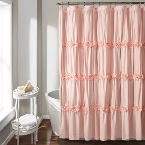 Lush Decor Darla Horiz Texture Shower Curtain With Images