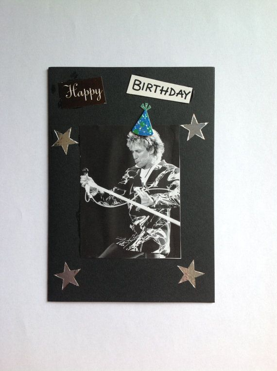 Rod Stewart Birthday Card