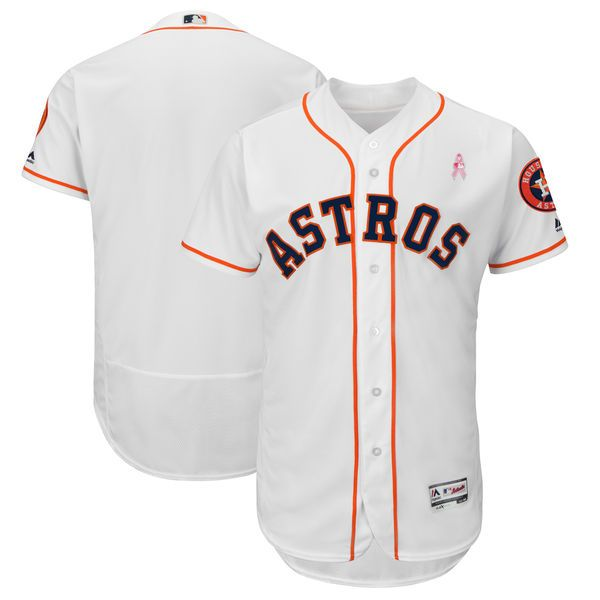 48ef84c8b05 Men s Houston Astros Majestic White 2018 Mother s Day Home Flex Base Team  Jersey