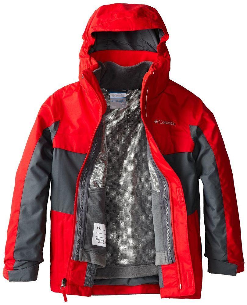 columbia boys 10 m bugaboo 3 in 1 interchange omni heat jacket