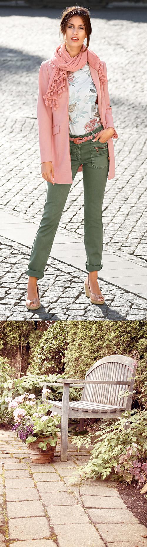 ef70b951842439 Nicht nur im Park erwarten uns zartes Rosé und sanftes Grün  Laura Kent  zeigt die Trend-Farben des Frühlings.  Mode