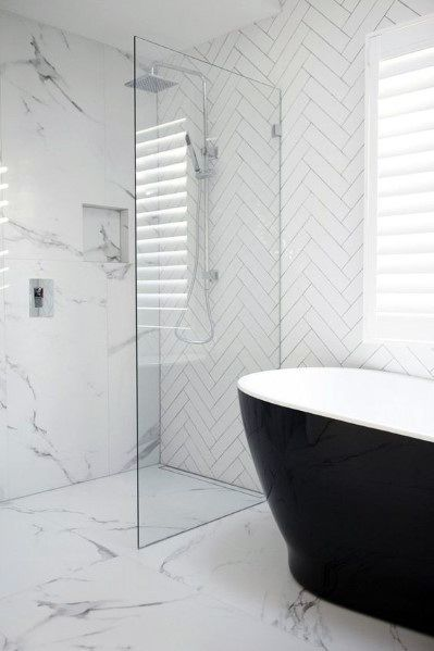 Top 60 Best White Bathroom Ideas - Home Interior Designs