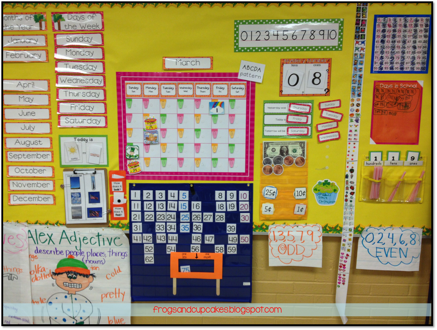 Great Calendar Math ideas and I love the Math notebooks (includes free  printables)