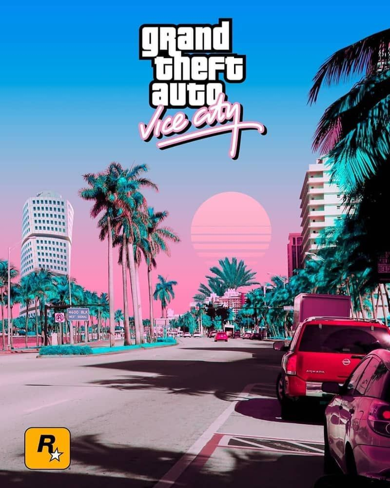 Indieground S Weekly Inspiration Dose 94 Gta City Cool Backgrounds Wallpapers City Vibe Aesthetic gta vice city wallpaper 4k
