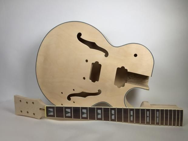 Do it yourself diy electric guitar kit jazz style with hollow body do it yourself diy electric guitar kit jazz style with hollow body build your own reverb solutioingenieria Image collections