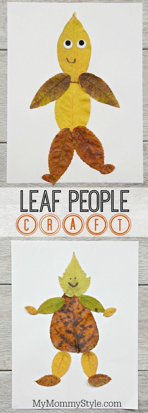 Fun and easy leaf people craft #preschool