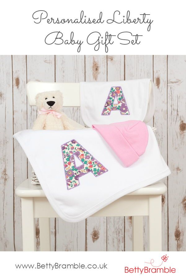Personalised liberty baby gift set embroidered baby blankets personalised liberty baby gift set embroidered baby blankets personalised baby and personalized baby blankets negle Gallery
