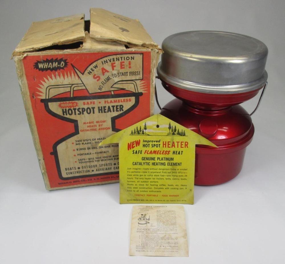 Vintage~1963~ Wham-O~Hot Spot #220 ~Catalytic Heater w/ Platinum ...