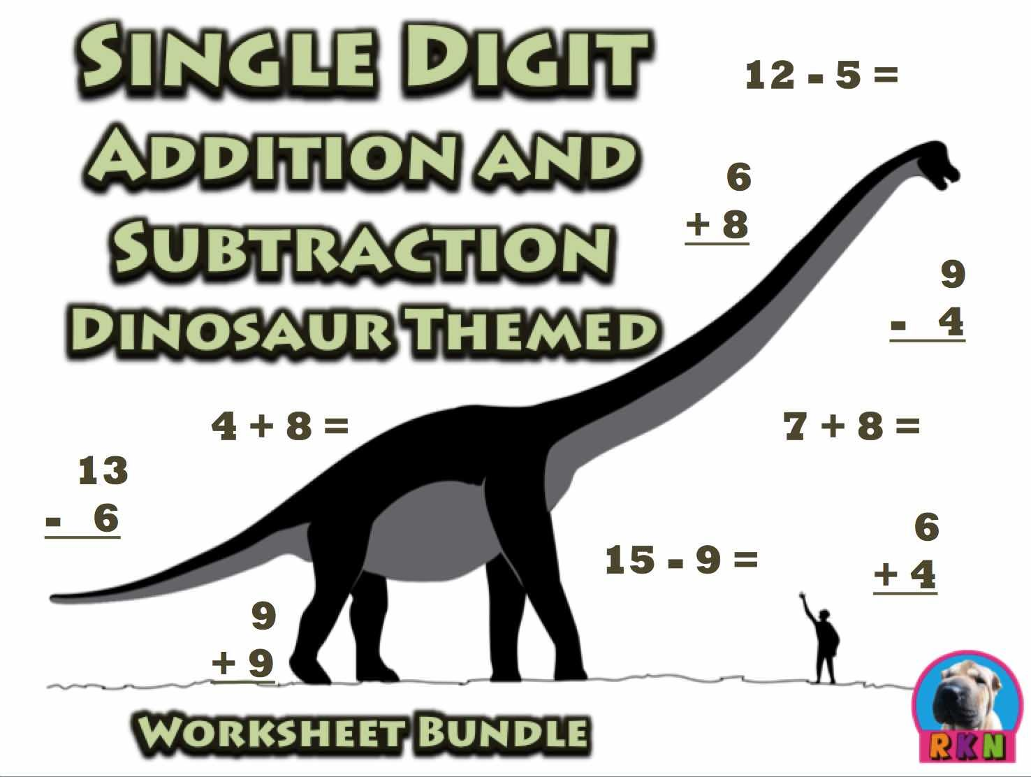 Single Digit Addition And Subtraction Worksheet Bundle