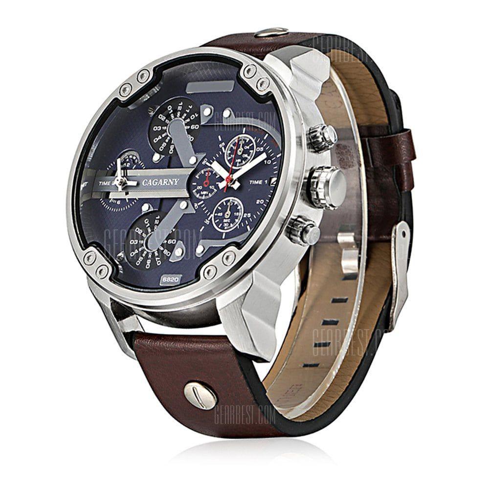 790d4d4cf3b Cagarny 6820 Relógio Masculino Quartz -R 36.35 Compras Online