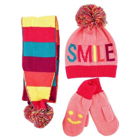207b45241b9 Girls  Smile Beanie Hat