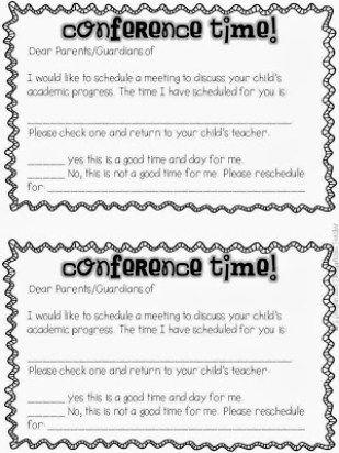 Rock those Parent Teacher Conferences like a Star Conference - check request form