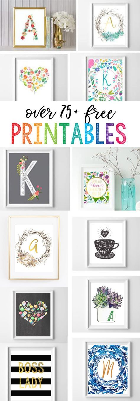 Free Printables for the Home -   22 home decor for cheap diy wall art ideas