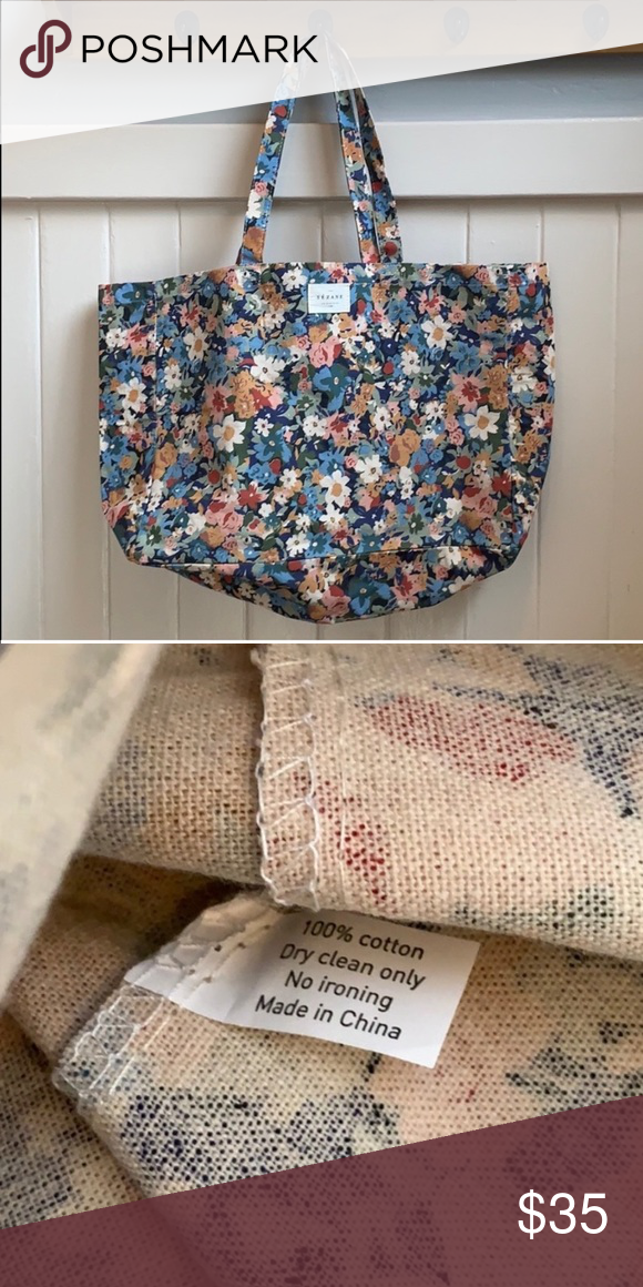 Sezane Floral Cotton Tote Excellent Condition No Signs Of Wear 100