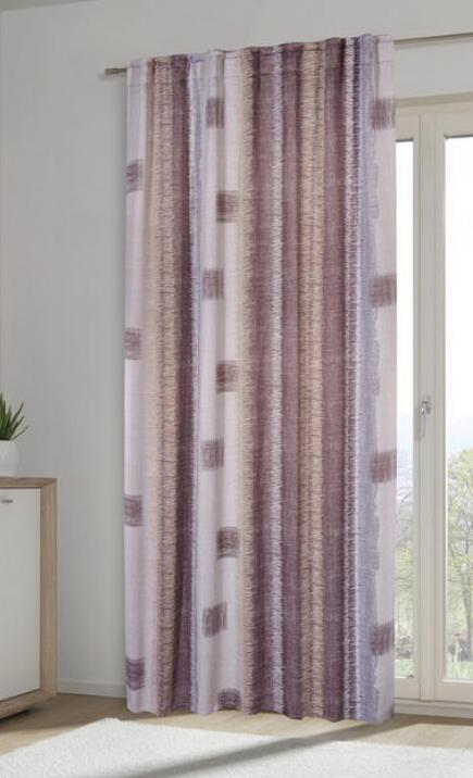 Fertigvorhang Beige Grau Lichtundurchlässiger Vorhang