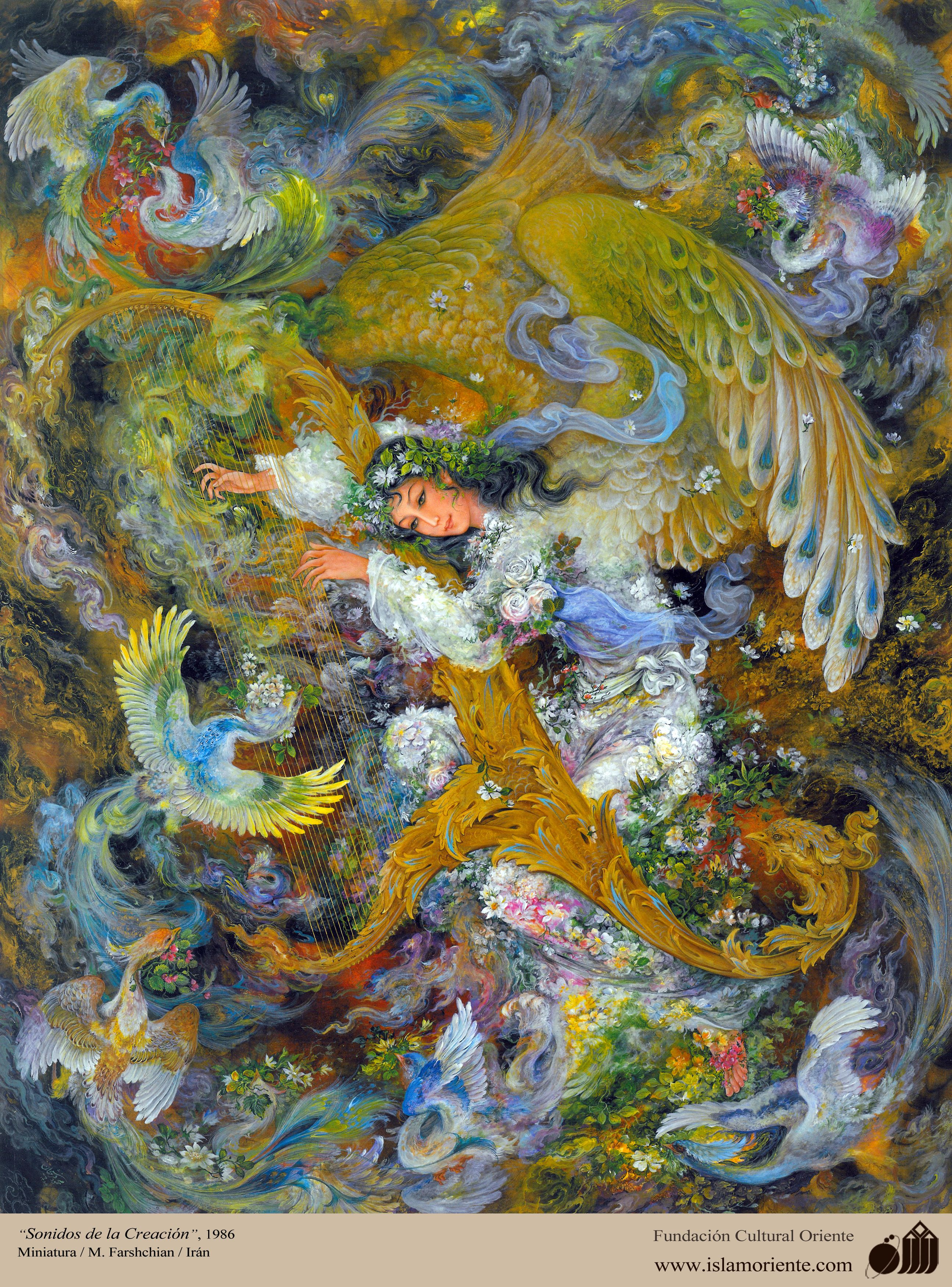 sounds of creation persian painting farshchian simurgh sounds of creation persian painting farshchian