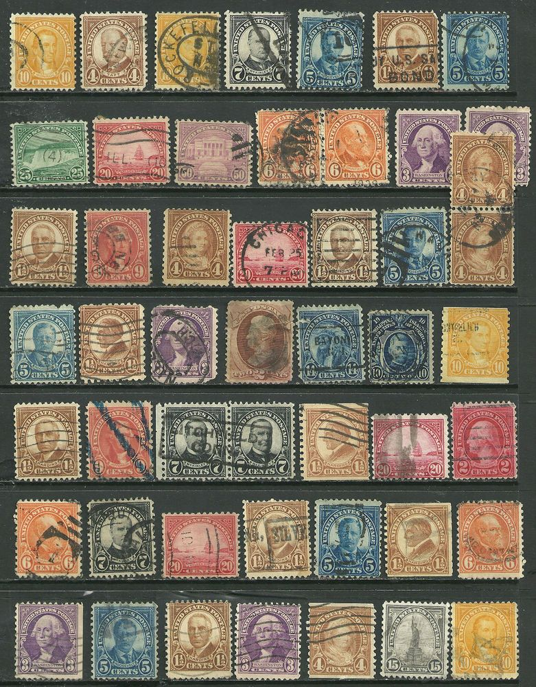 US valuable collection lot of 56 Definitive stamps # 565 - 14¢ American Indian